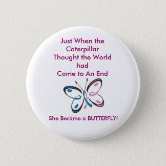 Breast Cancer Caterpiller Pin