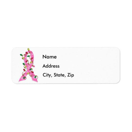 Breast Cancer Christmas Lights Ribbon