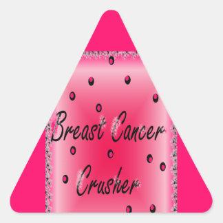 Breast Cancer Crusher Triangle Sticker