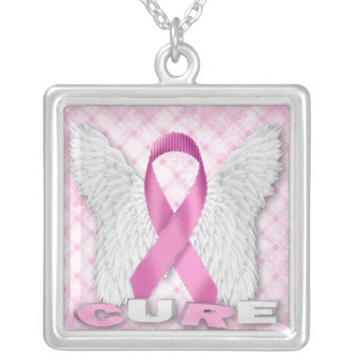 Breast cancer cure necklace