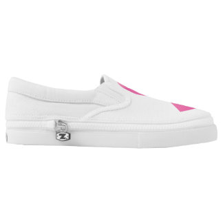 Breast Cancer Cure Slip-On Sneakers by Elle Rose
