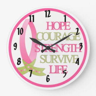 Breast Cancer Design Large Clock