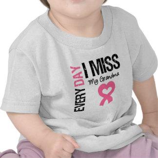 Breast Cancer Everyday I Miss My Grandma Tee Shirts
