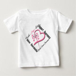 Breast Cancer Faith Hope Love Baby T-Shirt