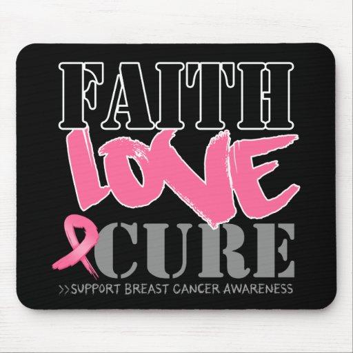 Breast Cancer Faith Love Cure Mousepads