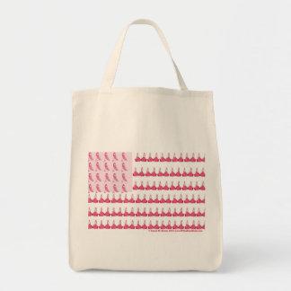 Breast Cancer Flag Tshirt Final Tote Bag