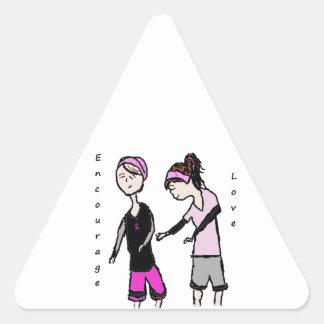 Breast Cancer Friendship Encouragement Triangle Sticker
