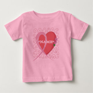Breast Cancer Heart Customized Infant T-shirt