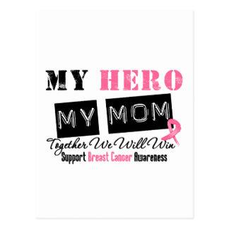 Breast Cancer HERO My Mom Postcard