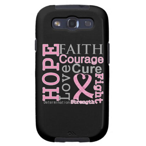 Breast Cancer Hope Faith Motto Samsung Galaxy SIII Cases