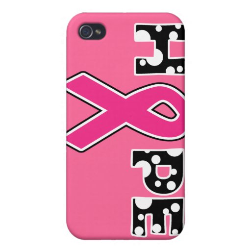"Breast Cancer ""Hope"" iPhone 4 Case"