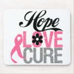 Breast Cancer HOPE LOVE CURE Gifts Mouse Pad