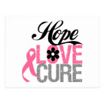 Breast Cancer HOPE LOVE CURE Gifts Postcard