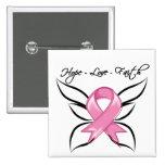 Breast Cancer Hope Love Faith Buttons