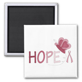 "Breast cancer ""HOPE"" magnet with butterfly"