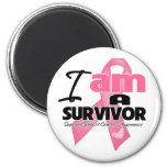Breast Cancer - I am a Survivor 2 Inch Round Magnet