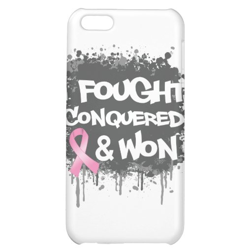 Breast Cancer I Fought Conquered Won iPhone 5C Cover