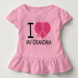 Breast Cancer I Love My Grandma Girls Tshirt