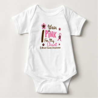 Breast Cancer I Wear Pink For My Aunt 12 Baby Bodysuit