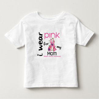 Breast Cancer I WEAR PINK FOR MY MOM 43 Toddler T-shirt