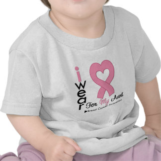Breast Cancer I Wear Pink Ribbon For My Aunt T Shirts