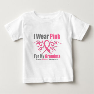 Breast Cancer I Wear Pink Tribal Ribbon (Grandma) T-shirts