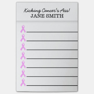 Breast cancer kick it's ass | Personalize Post-it Notes