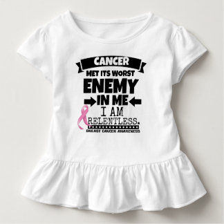 Breast Cancer Met Its Worst Enemy in Me Toddler T-shirt