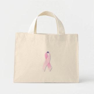 breast cancer mini tote bag