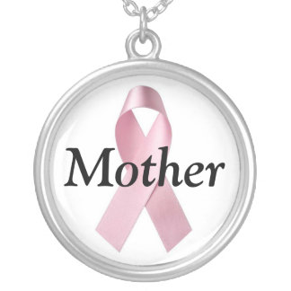 Breast Cancer Mother Silver Plated Necklace