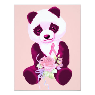 Breast Cancer Panda Bear Card