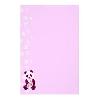 Breast Cancer Panda Bear Stationery