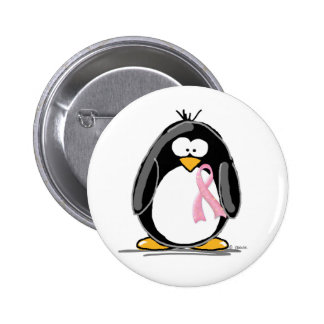 Breast Cancer Penguin 2 Inch Round Button