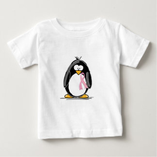 Breast Cancer Penguin Baby T-Shirt