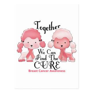 Breast Cancer Pink Poodles Together 2 Postcard