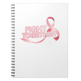 Breast Cancer Pink Ribbon Awareness Survivor Spiral Notebook