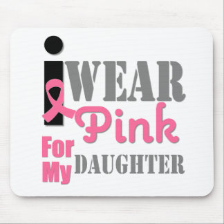 BREAST CANCER PINK RIBBON Daughter Mouse Pad