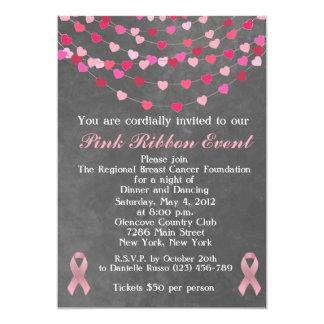 Breast Cancer Pink Ribbon Fundraiser Invitation