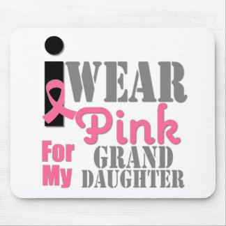 BREAST CANCER PINK RIBBON Granddaughter Mousepads