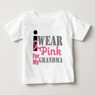 BREAST CANCER PINK RIBBON Grandma Baby T-Shirt