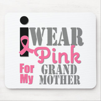 BREAST CANCER PINK RIBBON Grandmother Mousepads