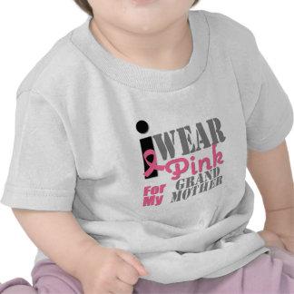 BREAST CANCER PINK RIBBON Grandmother Tee Shirt