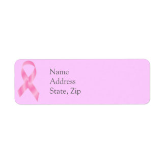 Breast Cancer Pink Ribbon labels