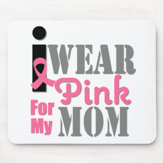 BREAST CANCER PINK RIBBON Mom Mouse Pad