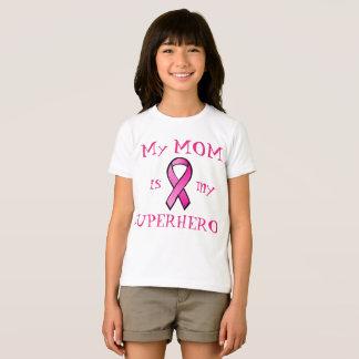 Breast Cancer Pink Ribbon Mom Superhero Shirt