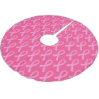 Breast Cancer Pink Ribbon Pattern Brushed Polyester Tree Skirt