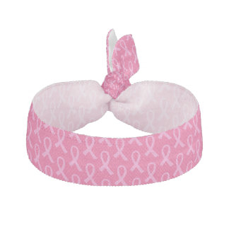 Breast Cancer Pink Ribbon Pattern Hair Tie