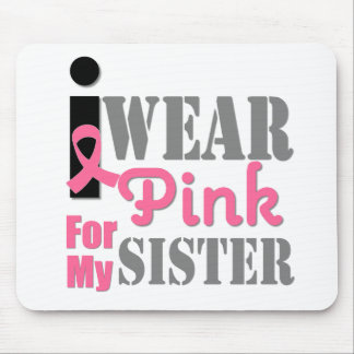 BREAST CANCER PINK RIBBON Sister Mouse Pad