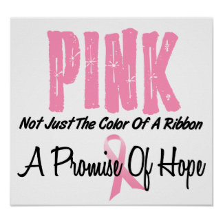 Breast Cancer Pink Ribbon Symbol of Hope Poster