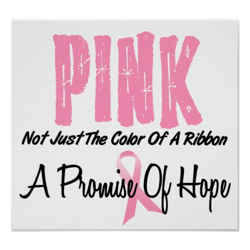 Breast Cancer Pink Ribbon Symbol Of Hope Poster Zazzle Ca